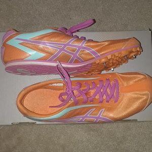 Asics Orange/Pink/Teal LD Track Spikes